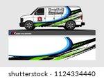 cargo van decal design.... | Shutterstock .eps vector #1124334440
