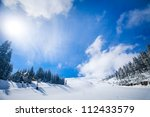 Slope On The Skiing Resort  In...