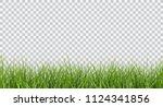 vector bright green realistic... | Shutterstock .eps vector #1124341856