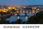 The Bridges Of Prague During...