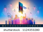 smart city wireless...   Shutterstock .eps vector #1124353280