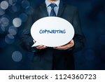 copywriting concept. copywriter ... | Shutterstock . vector #1124360723