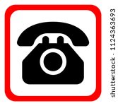 phone icon in trendy flat style ... | Shutterstock .eps vector #1124363693