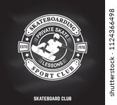 skateboarding sport club sign... | Shutterstock .eps vector #1124366498