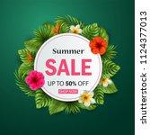 vector illustration of summer... | Shutterstock .eps vector #1124377013