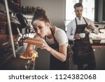 cafe business  professional... | Shutterstock . vector #1124382068