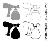 sprayer paint icon outline set...   Shutterstock .eps vector #1124382290