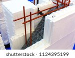 wall construction of permanent... | Shutterstock . vector #1124395199