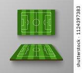 soccer field  football field in ... | Shutterstock .eps vector #1124397383