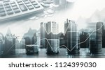 stock market or forex trading... | Shutterstock . vector #1124399030