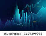 stock market or forex trading... | Shutterstock . vector #1124399093