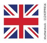 flag of england united kingdom... | Shutterstock .eps vector #1124399816