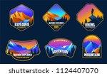 a set mountain adventure logo...   Shutterstock .eps vector #1124407070