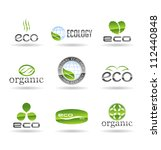 ecology icon set. eco icons.... | Shutterstock .eps vector #112440848
