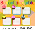 school timetable  a weekly... | Shutterstock .eps vector #1124414840