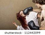 woman victim of domestic... | Shutterstock . vector #112442099