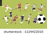 european football  soccer... | Shutterstock .eps vector #1124422010