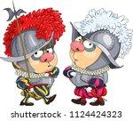 the comic caricature. cartoon.... | Shutterstock .eps vector #1124424323