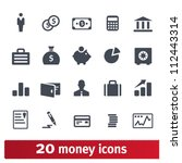 money  finance  banking icons ... | Shutterstock .eps vector #112443314