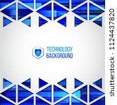 abstract hi tech background.... | Shutterstock .eps vector #1124437820