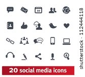 social media icons. vector set... | Shutterstock .eps vector #112444118