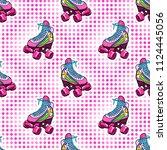 retro roller derby skates... | Shutterstock .eps vector #1124445056
