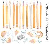 vector pencil illustration.... | Shutterstock .eps vector #1124447036