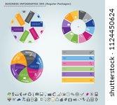 vector infographic template ... | Shutterstock .eps vector #1124450624