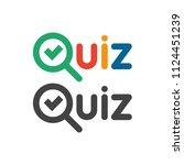 quiz game show button logo.... | Shutterstock .eps vector #1124451239