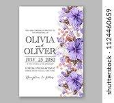 hawaii summer tropical wedding... | Shutterstock .eps vector #1124460659