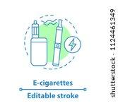 e cigarettes concept icon. vape ... | Shutterstock .eps vector #1124461349