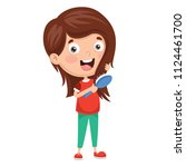 vector illustration of kid... | Shutterstock .eps vector #1124461700
