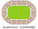 top view of a tennis arena | Shutterstock .eps vector #1124462888