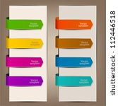 colorful bookmarks and arrows... | Shutterstock .eps vector #112446518