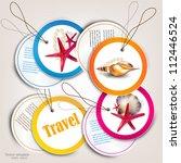 set of holiday badges  labels ... | Shutterstock .eps vector #112446524