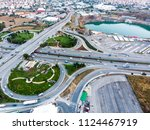 aerial drone view of istanbul... | Shutterstock . vector #1124467919