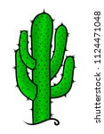 cactus on a white background.... | Shutterstock .eps vector #1124471048