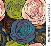 vintage floral background. can... | Shutterstock .eps vector #1124471573