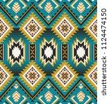 aztec geometric seamless... | Shutterstock .eps vector #1124474150