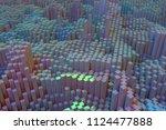 colorful 3d rendering. shape... | Shutterstock . vector #1124477888