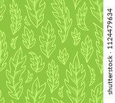 vector seamless green pattern... | Shutterstock .eps vector #1124479634