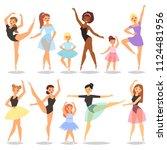 ballet dancer vector ballerina... | Shutterstock .eps vector #1124481956