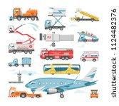 airport vehicle vector aviation ... | Shutterstock .eps vector #1124482376