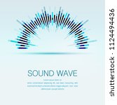 abstract digital equalizer... | Shutterstock .eps vector #1124494436