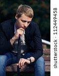 handsome man waiting a woman | Shutterstock . vector #112449458