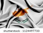 cyprus fabric flag waving 3d... | Shutterstock . vector #1124497733