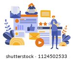 vector illustration  flat style ... | Shutterstock .eps vector #1124502533