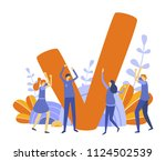 concept done job  finished... | Shutterstock .eps vector #1124502539