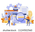 concept searching process... | Shutterstock .eps vector #1124502560