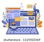vector illustration  flat style ... | Shutterstock .eps vector #1124502569